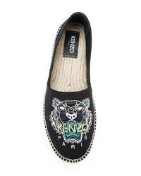KENZO - Black Tiger Espadrilles for Men - Lyst