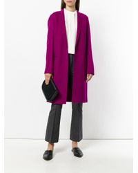 Theory - Purple Double-faced Essential Coat - Lyst