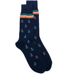 Paul Smith - Blue Bunny-print Socks for Men - Lyst