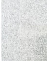 Bajra - White Metallic Scarf - Lyst