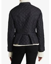 Burberry - Blue Diamond Quilted Jacket - Lyst