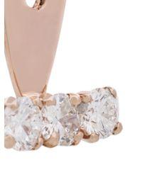 Yvonne Léon - Metallic Orecchino Con 3 Diamanti - Lyst