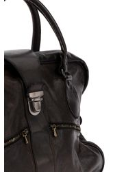 Numero 10 Black Clasp Closure Zermatt Bag for men