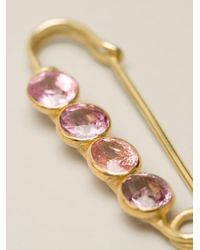 Marie-hélène De Taillac - Metallic Spinel Safety Pin - Lyst