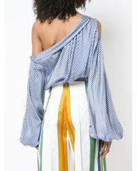Silvia Tcherassi - Blue Cold Shoulder Trevi Top - Lyst
