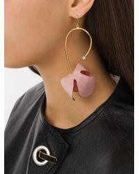 Marni - Metallic Floral Drop Earrings - Lyst