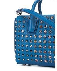 MCM - Blue Studded Crossbody Bag - Lyst