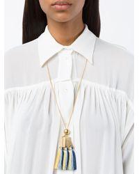 Chloé - Metallic Blue Multi Janis Pendant Necklace - Lyst