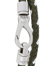 Tod's - Green Woven Bracelet for Men - Lyst