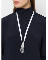 Atelier Swarovski - White Large Pendant Crystal Necklace - Lyst