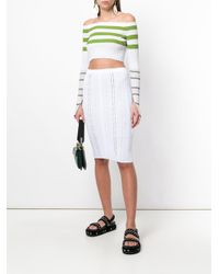 Mrz - White Pencil Skirt - Lyst