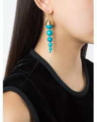 Aurelie Bidermann - Blue Long 'lakotas' Earrings - Lyst