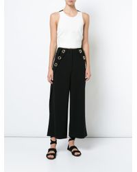 10 Crosby Derek Lam - White Cropped Shell With Elastic Back - Lyst