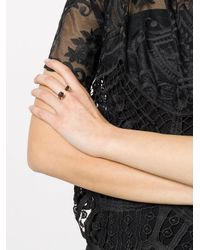 Rosa Maria - Metallic Embellished Cuff Ring - Lyst