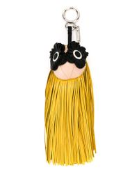 Fendi - Yellow Fringe-eyes Charm - Lyst