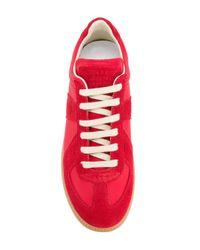 Maison Margiela - Red Replica Sneakers - Lyst