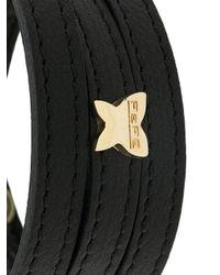 Fefe - Black Bracciale Con Cinturino Triplo for Men - Lyst