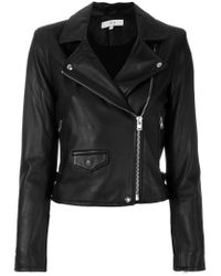 IRO - Black Zipped Jacket - Lyst