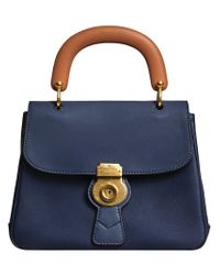 Burberry - Blue Medium Dk88 Top Handle Bag - Lyst