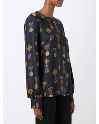 P.A.R.O.S.H. - Black 'soldier' Blouse - Lyst