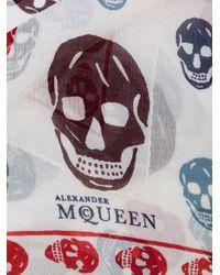 Alexander McQueen | White Skull Scarf for Men | Lyst