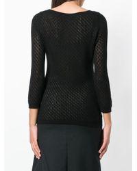 Stefano Mortari - Black Fine Knit Sweater - Lyst