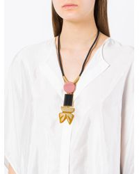 Marni - Multicolor Large Bead Drop Necklace - Lyst