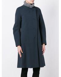IO Ivana Omazic - Blue Double-Breasted Coat - Lyst