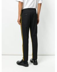 Dolce & Gabbana - Black Stripe Detail Trousers for Men - Lyst