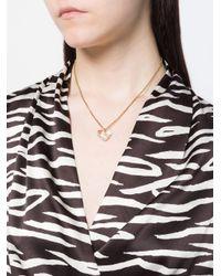 Isabel Marant - Metallic Crystal Heart Necklace - Lyst