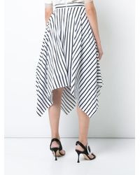 Adam Lippes - White Striped Handkerchief Skirt - Lyst