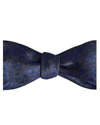 Burberry - Blue Geometric Jacquard Bow Tie for Men - Lyst