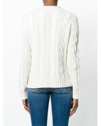 Polo Ralph Lauren - White Cable Knit Jumper - Lyst
