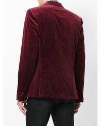 Roberto Cavalli - Red Animal Pattern Blazer for Men - Lyst