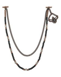 Tagliatore - Metallic Chaing1rn Copper Black Leather/fur/exotic Skins->leather for Men - Lyst