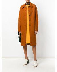 Marni Orange Casentino Coat