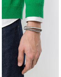 Tod's - Black Braided Wrap Bracelet for Men - Lyst