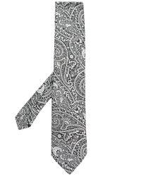 Etro - Black Paisley Print Tie for Men - Lyst