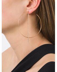 Diane Kordas - Metallic Diamond Bar Hoop Earrings - Lyst