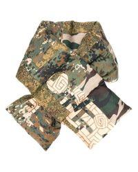 Pierre Louis Mascia | Green Sciarpa Camouflage Imbottita | Lyst