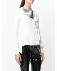 Just Cavalli - White Belted Knit Jacket - Lyst