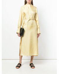 Joseph - Yellow Belted Shirt Dress - Lyst