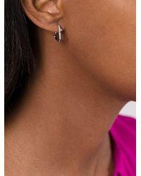 Shaun Leane - Metallic 'cherry Branch' Diamond Hoop Earrings - Lyst