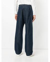 Cerruti 1881 - Blue Loose Fit Belted Jeans for Men - Lyst