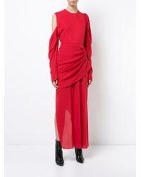 Magda Butrym - Asymmetric Gathered Dress With Shoulder Cutout - Lyst