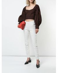 Rachel Comey - Brown Oversized Sleeve Cropped Top - Lyst