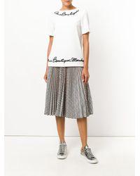 Boutique Moschino | White Appliqué Detail Top | Lyst