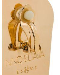 Eshvi - Blue Nino Eliava X Marble Effect Earrings - Lyst