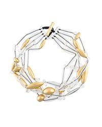 Monies | Metallic Multi-strand Long Bead Necklace | Lyst