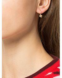 Meadowlark - Metallic Diamond Heart Endless Hoop Earring - Lyst